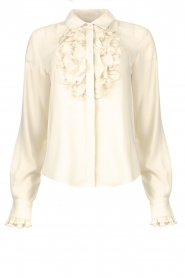 Fracomina |  Ruffle blouse Gitty | natural  | Picture 1