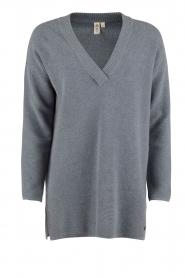 Knit-ted | Gebreide trui Jolie | denim blauw  | Afbeelding 1