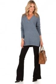 Knit-ted | Gebreide trui Jolie | denim blauw  | Afbeelding 3