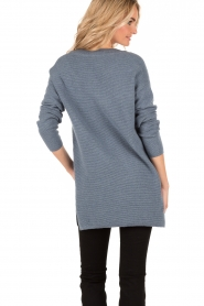 Knit-ted | Gebreide trui Jolie | denim blauw  | Afbeelding 5