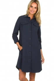 Knit-ted |  Blouse dress Verona | navy  | Picture 2