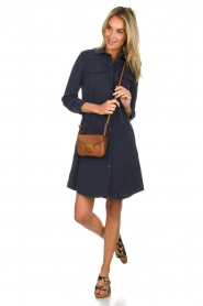 Knit-ted |  Blouse dress Verona | navy  | Picture 3
