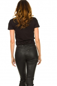 Fracomina |  Top with lace Genny | black  | Picture 6