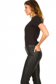 Fracomina |  Top with lace Genny | black  | Picture 5