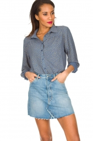Lolly's Laundry | Blouse Allison | Blauw  | Afbeelding 4