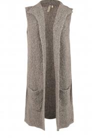 Knit-ted | Gebreid gilet Adele | grijs  | Afbeelding 1