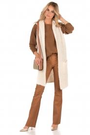 Knitted waistcoat Adele | off-white