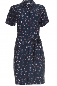 Knit-ted |  Dress with floral print Gigi | navy  | Picture 1
