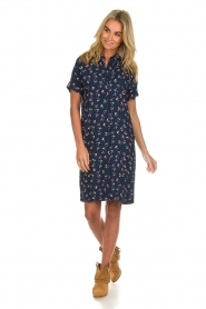 Knit-ted |  Dress with floral print Gigi | navy  | Picture 3