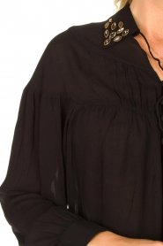 Fracomina |  Blouse with decorated collar Desy | black  | Picture 7