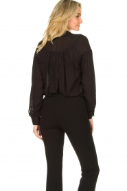 Fracomina |  Blouse with decorated collar Desy | black  | Picture 6