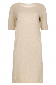 Knit-ted |  Dress with lurex finish Lies | beige  | Picture 1