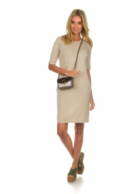 Knit-ted |  Dress with lurex finish Lies | beige  | Picture 3
