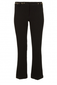 Fracomina |  Trousers with rhinestones Allessandra | black  | Picture 1