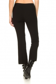 Fracomina |  Trousers with rhinestones Allessandra | black  | Picture 6