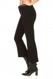 Fracomina |  Trousers with rhinestones Allessandra | black  | Picture 5