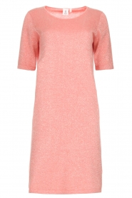 Knit-ted |  Dress with lurex finish Lies | pink  | Picture 1