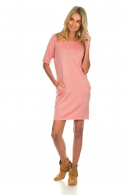 Knit-ted |  Dress with lurex finish Lies | pink  | Picture 3