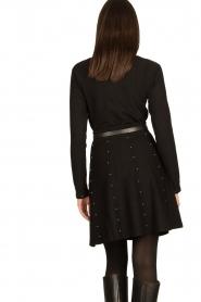 Fracomina |  Studded skirt Round | black  | Picture 5