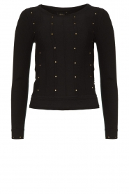 Fracomina |  Studded sweater Round | black  | Picture 1