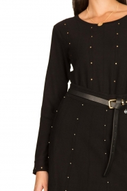 Fracomina |  Studded sweater Round | black  | Picture 7