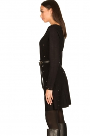 Fracomina |  Studded sweater Round | black  | Picture 5