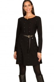 Fracomina |  Studded sweater Round | black  | Picture 2