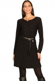Fracomina |  Studded sweater Round | black  | Picture 4