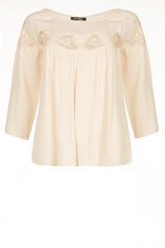 Fracomina |  Laced top Carmen | pink  | Picture 1