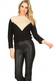 Fracomina |  Sweater met motief Alida | black  | Picture 4