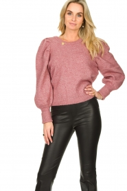Fracomina |  Sweater met motief Alida | black  | Picture 7