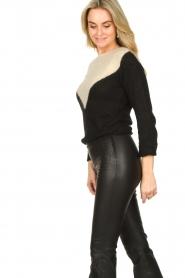 Fracomina |  Sweater met motief Alida | black  | Picture 5