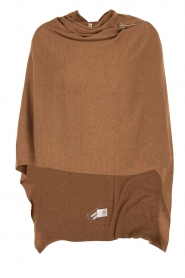 Knit-ted | Poncho Tara | bruin  | Afbeelding 1