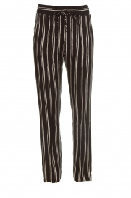 Knit-ted |  Striped pants Goldie | black  | Picture 1