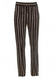 Knit-ted   Gestreepte broek Goldie   zwart    Afbeelding 1