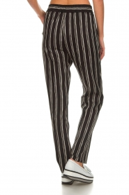 Knit-ted |  Striped pants Goldie | black  | Picture 6