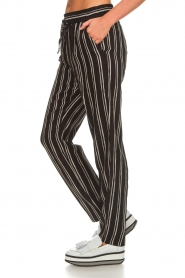 Knit-ted |  Striped pants Goldie | black  | Picture 4