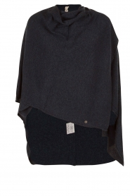 Knit-ted | Poncho Tara | blauw  | Afbeelding 1