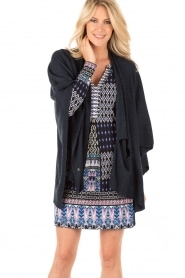Knit-ted | Poncho Tara | blauw  | Afbeelding 2
