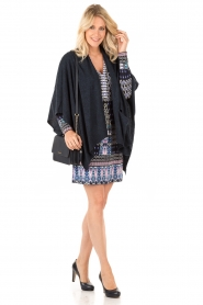 Knit-ted | Poncho Tara | blauw  | Afbeelding 3