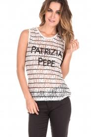 Patrizia Pepe | Top Maglia | zwart en wit   | Afbeelding 2