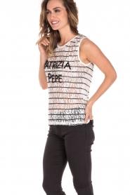 Patrizia Pepe | Top Maglia | zwart en wit   | Afbeelding 4