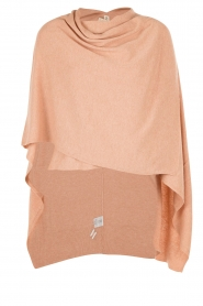 Knit-ted | Poncho Tara | roze  | Afbeelding 1