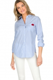Essentiel Antwerp   Gestreepte blouse Paksoi   blauw    Afbeelding 2