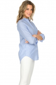 Essentiel Antwerp   Gestreepte blouse Paksoi   blauw    Afbeelding 4