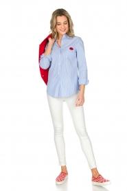 Essentiel Antwerp   Gestreepte blouse Paksoi   blauw    Afbeelding 3