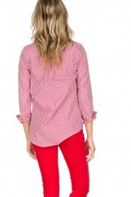 Essentiel Antwerp | Gestreepte blouse Paksoi | rood  | Afbeelding 5