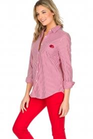 Essentiel Antwerp | Gestreepte blouse Paksoi | rood  | Afbeelding 4