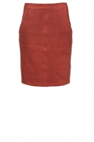 Knit-ted |  Skirt with suede look Pascal | brown  | Picture 1