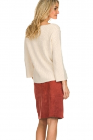 Knit-ted |  Skirt with suede look Pascal | brown  | Picture 5